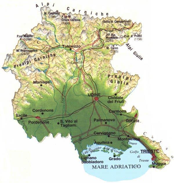 Regione Friuli Venezia Giulia Cartina.Consiglio Regionale Del Friuli Venezia Giulia Ddl N 164 Approvazione In V Commissione